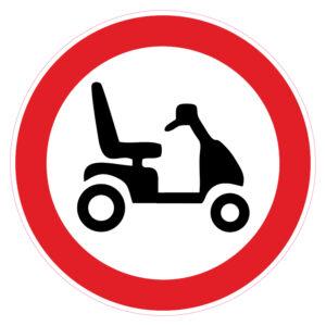 Verboden voor scootmobielen