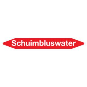 Leidingmarker schuimbluswater