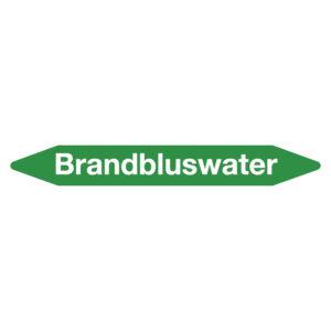 Leidingmarker brandbluswater