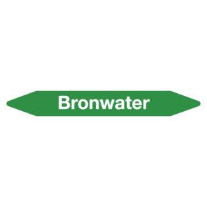 Leidingmarker bronwater