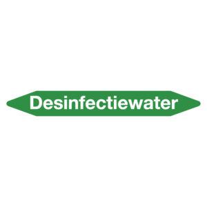 Leidingmarker desinfectiewater