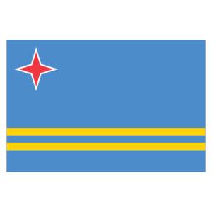 Vlagsticker Aruba