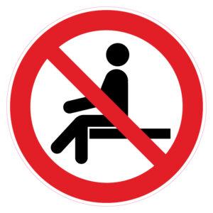 Verboden zitplaats tijdens de rit