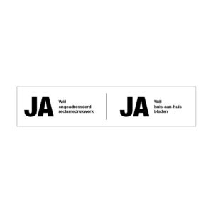 Ja - Ja sticker