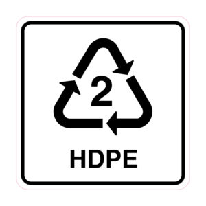 Polyethyleen (HDPE) sticker