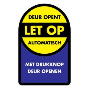 Let op: Deur opent automatisch