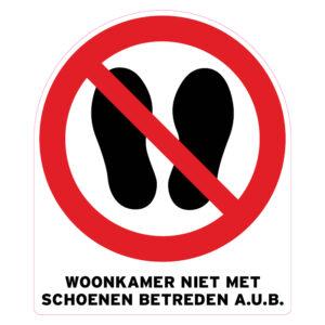 Woonkamer niet met schoenen betreden