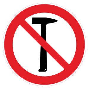 Hamer verboden