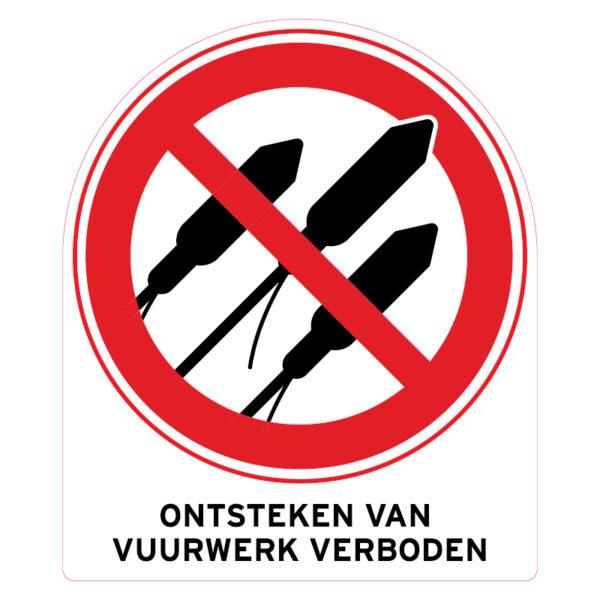 Verboden vuurwerk te ontsteken