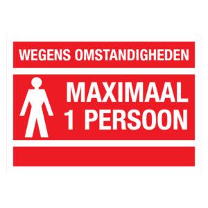Maximaal 1 persoon