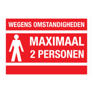 Maximaal 2 personen