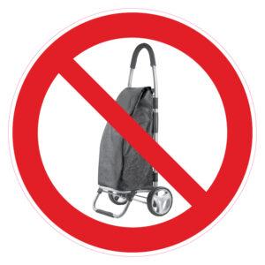 Verboden voor trolleys