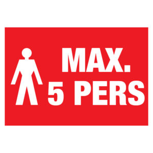 Max 5 pers