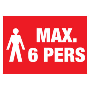 Max 6 pers