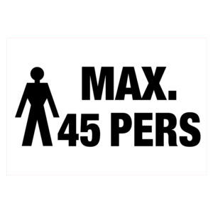 Max 45 pers