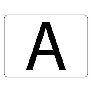 A-sticker