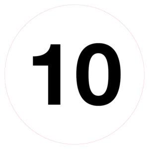 Magazijnsticker 10
