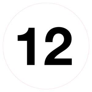 Magazijnsticker 12