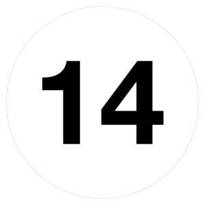 Magazijnsticker 14