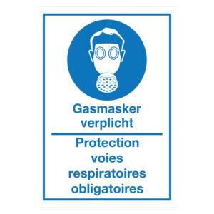 Gasmasker verplicht - Protection voies respiratoires obligatoires