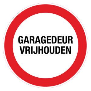 Garagedeur vrijhouden