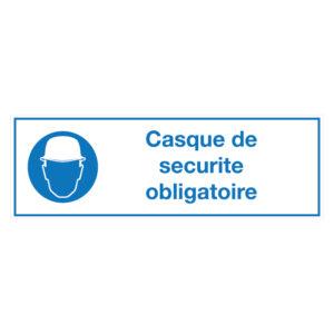 Casque de securite obligatoire