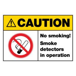 Caution - No smoking